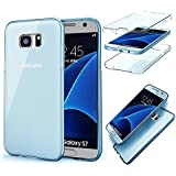 MOMDAD TPU Coque pour Samsung Galaxy S7 Edge Coque Housse Souple de Protection Samsung Galaxy S7 Edge Souple Etui en Silicone pour Samsung Galaxy S7 Edge Coque Samsung Galaxy S7 Edge Transparente TPU Etui Flexible Ultra Mince Coque Poids Léger Soft Silicone Case Cas Couverture Anti Rayure Coquille Anti Choc Hull-Bleu