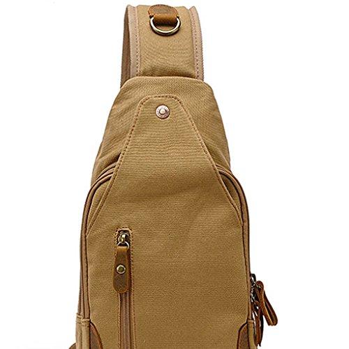 Herren Männer Schultertasche Umhängetasche Tasche Brusttasche - Erdig Gelb Erdig Gelb