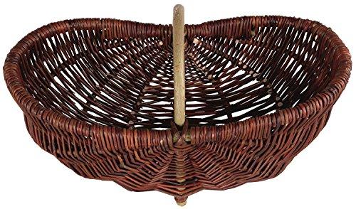 Kleine Baumwolle-feld (Einkaufskorb ovaler Weide Erntekorb, Kartoffelkorb, Weidenkorb groß 46cm x 18cm x 26cm (51))