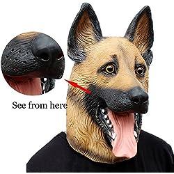 Máscara de perro muy realista Pastor Alemán.