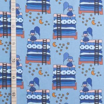 zessin auf Erbse - Hellblau - Jersey (Kind Erbsen Kostüme)