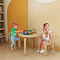 Hironpal Child Seat Solid Birch Wood Round Stool for Kids ~ Small Chair for Children