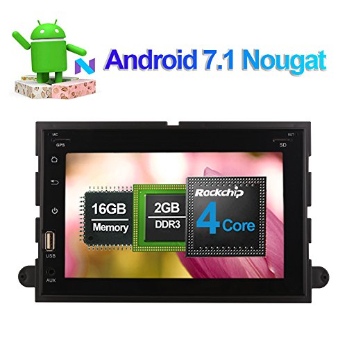 17,8cm Android 7.1Quad Core Full Pu Head Unit Autoradio Stereo CD DVD Player mit Bluetooth GPS Navigation Front Big USB für Ford Fusion 2006-2009Ford Explorer 2006-2010Mustang 2005-2009