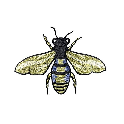 estickte Aufnäher Biene Insekt Nähen Patch Sticker Stickerei Applique Badge für Kleid Hut Jeans DIY Kostüm Schmücken ()