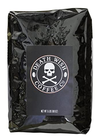 Death Wish Roasted Whole Bean Coffee, The World's Strongest Coffee,