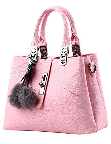 871d74cfb6791 Menschwear Damen Handtasche Marken Handtaschen Elegant Taschen Shopper  Reissverschluss Frauen Handtaschen Schwarz Rosa 2
