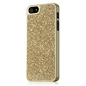 GGMM Sparkle Polycarbonate Case for iPhone 5 and 5S - Retail Packaging - Gold