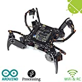 Freenove Quadruped Robot Kit | Arduino Based Project | Raspberry Pi | Spider Walking Crawling 4 Legged | Detailed Tutorial | Android App | WI-Fi Wireless RC 2.4G Servo