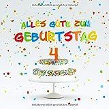Alles Gute Zum Geburtstag: Kindergeburtstag Gästebuch zum Eintragen - 4. Geburtstag