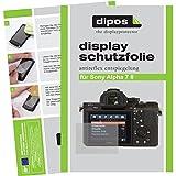 dipos Sony Alpha 7 II Schutzfolie (6 Stück) - Antireflex Premium Folie matt