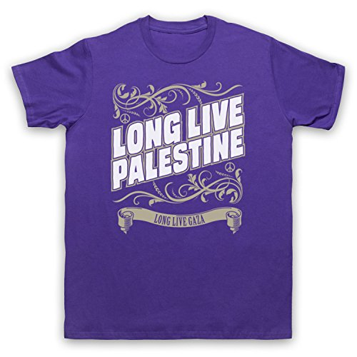 Long Live Palestine Long Live Gaza Herren T-Shirt Violett