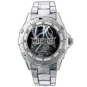 NEW Uhren Armbanduhren Edelstahl Geschenk Weihnachten EPSP378 Metallica Band Stainless Steel Wrist Watch
