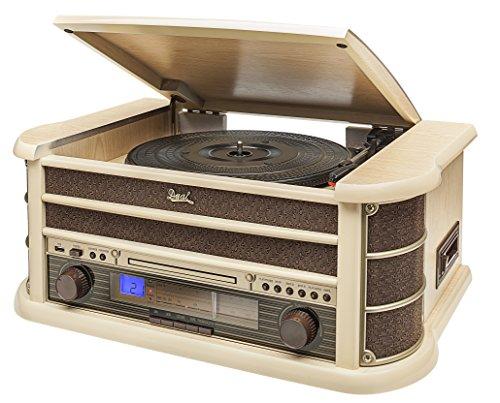dual stereoanlage mit plattenspieler Dual 75220 NR 4 Nostalgiekompaktanlage Hellbraun
