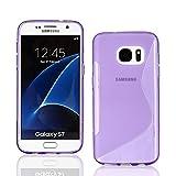 Dstores pour Samsung Galaxy S7/S7Edge étui, Coque en Silicone Lisse Résistant aux...