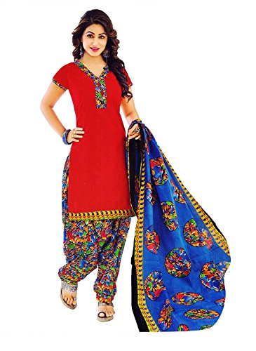 Fashion Valley Printed Cotton Patiyala Dress Material / Chudidar/Churidar Salwar Suit/Kameez for...