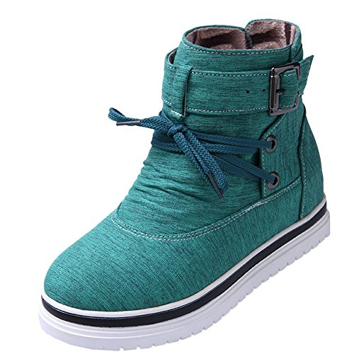 Misssasa Femmes Bottines Avec Talon Compensé Casual Fashion Green