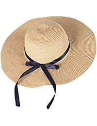 Zoylink Women s Beach Hat Foldable UV Protection Floppy Beach Cap Beach Sun  Hat Summer Beach Cap 8af7f703d4d4
