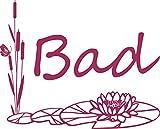 GRAZDesign 650178_30_821 Wandtattoo Bad Seerose - Schilf | Bad-Fliesen mit Aufkleber im Badezimmer überkleben (37x30cm // 821 Magnolia)