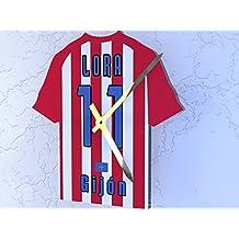Reloj de camisa de fútbol primera la liga, Fútbol español, personalizable, Sporting de