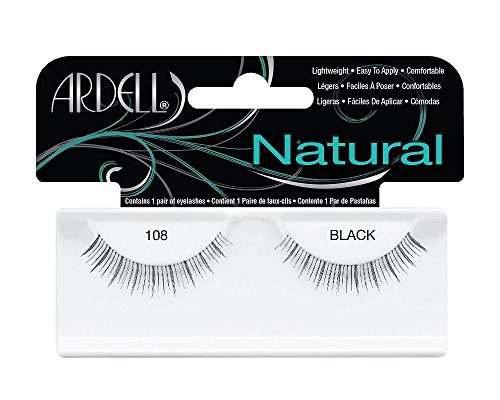 Ardell Natural Style Eye Lashes 108, demi black, 1er Pack (1 x 1 Paar) - Ardell Natural