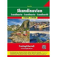 Skandinavien Superatlas, Autoatlas 1:250 000-1:400 000, Norwegen, Schweden, Dänemark, Finnland (freytag & berndt Autoatlanten)