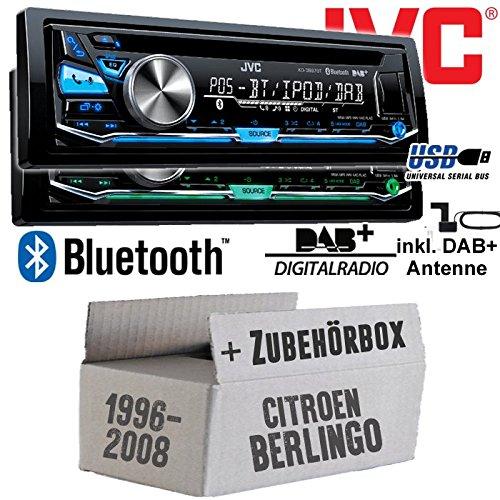 Citroen Berlingo - JVC KD-DB97BT - DAB+ Digitalradio   Bluetooth   USB...