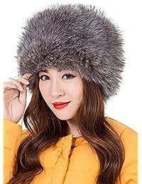 fe68dc3d91c Chapka Russe Femme Elegant Mode Casquette Fausse Fourrure pour Hiver Chaud  Cache-Oreilles Ski Chapeau