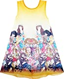 Sunboree Mädchen Kleid Tank Im Trend Menschen Abbildung Drucken Rosa Gr.158