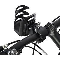 Aeloa Estante para Botellas de Bicicleta, Bicicleta de montaña Bicicleta Ciclismo Taza de Agua portabidón para Jaula para Exterior (Negro)