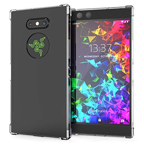 Caseflex Razer Phone 2 Hülle, Transparent Silikon Schutzhülle [Anti Shock] TPU Gel Handyhülle - Durchsichtig Bumper Case Cover mit erhöhtem Rand - Klar - CS000001RA