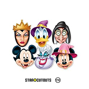 Star Cutouts-stsmp68-6máscaras para Adulto Halloween-Disney-Talla única