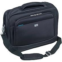 Basic große schwarze Damen Handtasche, Henkeltasche mit abnehmbarem Schulter-Riemen (427-896) SIX