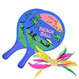 SUPRBIRD Volant de Badminton, Tournament Raquette Set badminton en bois massif épais Jeu de Plein Air - Fun Sports Set de badminton Enfant Beach Ball