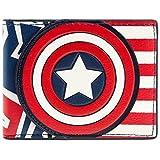 Marvel Captain America stile della bandierina Rosso portafoglio