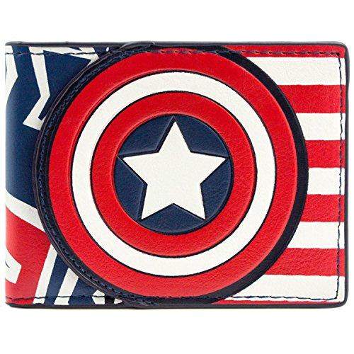 Marvel Captain America Flagge Stil Rot Portemonnaie Geldbörse (Der Winter Soldier Cosplay Kostüm)