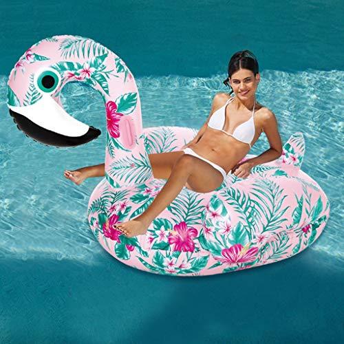Aufblasbares Schwimmringe - Tattoo Bird Beach Schwimmbad Party Spielzeug Erwachsene und Kinder Pool Raft Lounge, 150X88cm -