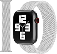INFOSUN Compatible with Apple Watch Bands 42mm 44mm Women Men, Adjustable Braided Replacement Band Strap Stret