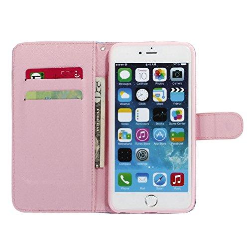 """MOONCASE pour iPhone 6 Plus / 6S Plus (5.5"""") Case Cuir Coque en Portefeuille Protection Housse de Étui à rabat Case ZMD10 ZMD07 #0308"""