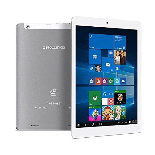 Teclast X98 Plus II Tablet PC Android 5.1 / Windows-10 Startseite Kirsch Trail X5 9.7inch IPS-Schirm 1.84GHz 4: 3 4GB RAM 64GB ROM 2MP 2MP verdoppeln Kameras Dual-Stereo-Lautsprecher -