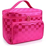 Rose Red : CalorMixs Large Travel Toiletry Bag Or Cosmetics Makeup Case Shaving Kit Organizer With Mirror For...