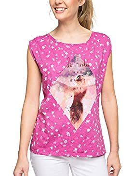 edc by Esprit Mit Leichter Transparenz, Camiseta para Mujer