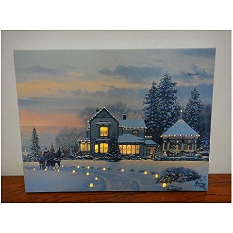 XYXY Natale paesaggi-incandescente LED luci in fibra ottica salotto di