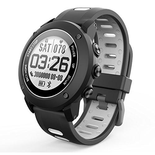 OOZIMO Tracker Fitness, Orologio Intelligente Con GPS Altimetro Barometro Bussola Cardiofrequenzimetro IP68 Impermeabile Digitale Sport Orologio Per Sport All'aperto
