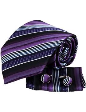 YAC2A15 Klassisch Gestreift Mehrfarbig Design Geschenk Seide Krawatte 3PT Von Y&G