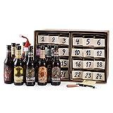 Wacken Brauerei DIY Craft Bier Adventskalender - 24 x 0,33l Flaschen inkl. Messer, Stift und Klebezettel - Craft Beer Geschenk Box Weihnachten