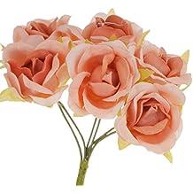 60x Artificial Plantas Flores Ramillete de Muñeca Diy Ramo Decoración Boda Novia - Marrón