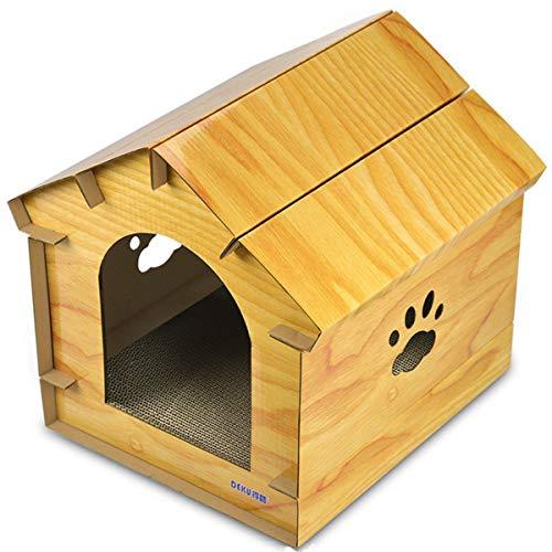 Vacoomcom Scratcher-Spielzeug for Katzen DIY Haus Innen Zubehör Schleifen Schnappen Corrugated Papier Cat Nest Cat House Matching (Color : B)