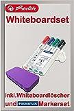 Herlitz 10524627 Whiteboard und Magnettafel, 40 x 60 cm / Kombi-Set (inkl. 4 Marker + Löscher lila)