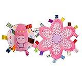 INCHANT Lovely Pink Engel Kleinkind-Bell-Ring-Kugel-Plüsch-Spielzeug-Kugel & Baby warme weiche Sicherheitsdecke