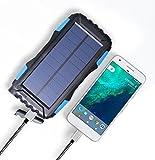 SAYES SOLAR Sayes Solaire Récemment Amazon à Vendre Grande contenance 25000mAh Solaire Mobile Power Bank Chargeur, Bleu
